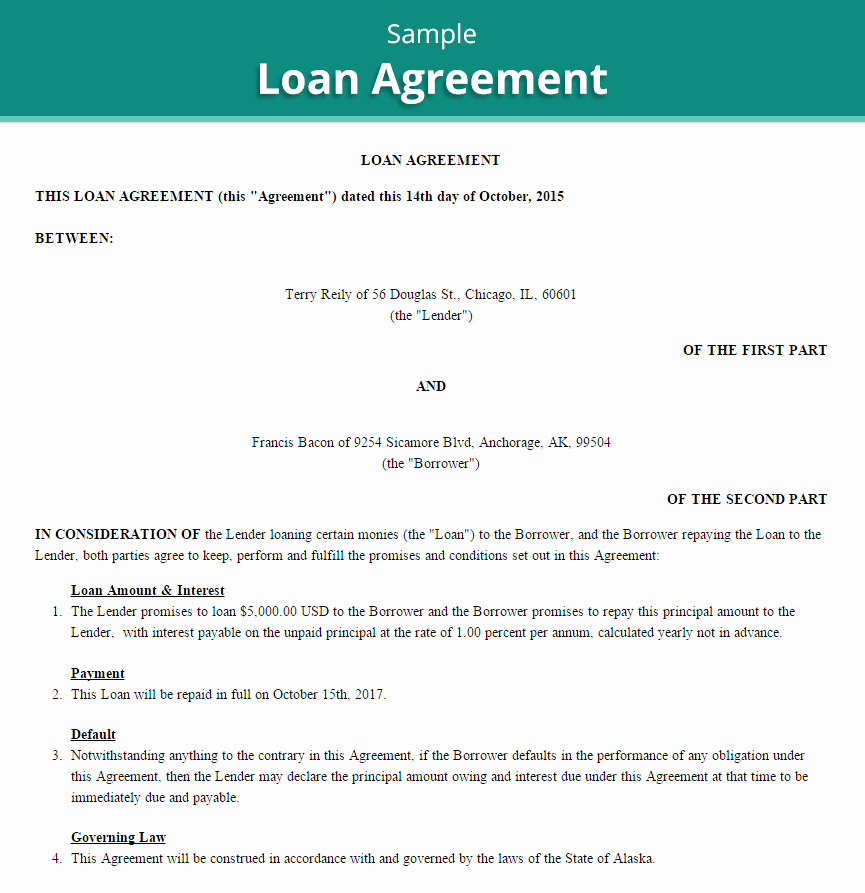 20 Loan Agreement Templates Word Excel Pdf formats