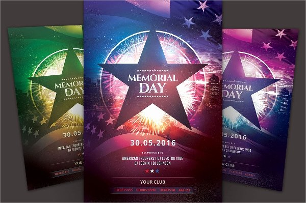 20 Memorial Day Flyer Templates