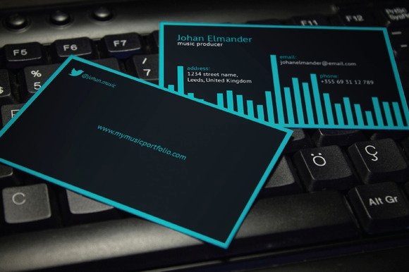 20 Music Business Card Templates