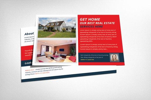 20 Nice Real Estate Postcards Templates