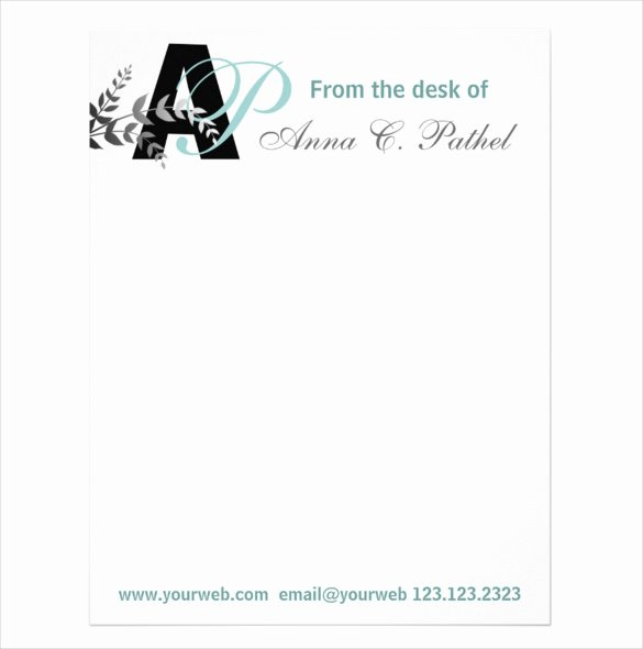 20 Personal Letterhead Templates – Free Sample Example
