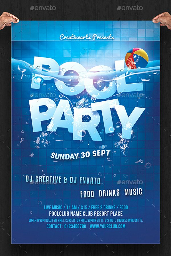 20 Pool Party Flyer Designs Jpg Psd Ai Illustrator