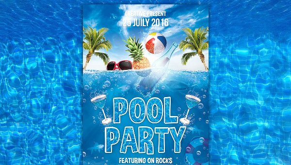 20 Pool Party Flyer Templates Free Premium Psd