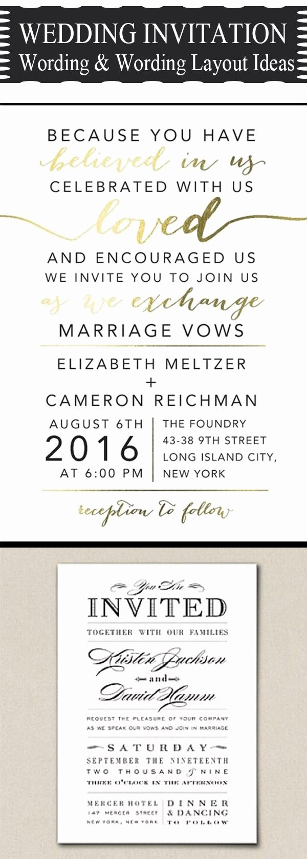 20 Popular Wedding Invitation Wording & Diy Templates