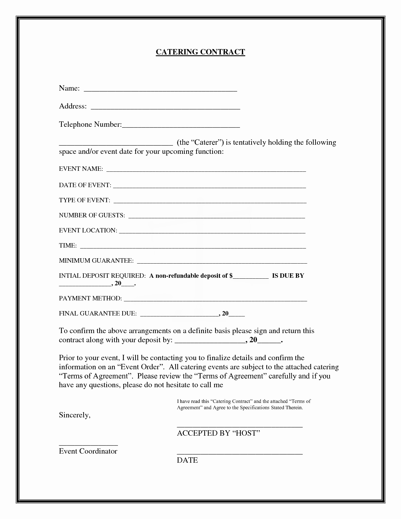20 Printable Blank Contract Template Examples Thogati
