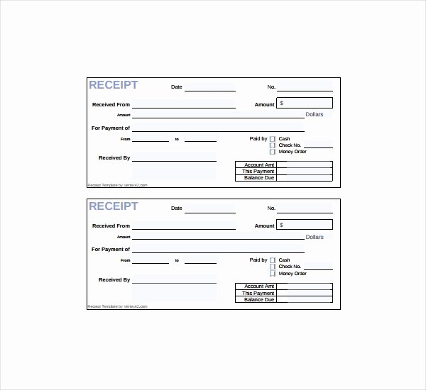 20 Printable Cash Receipt Templates Pdf Word