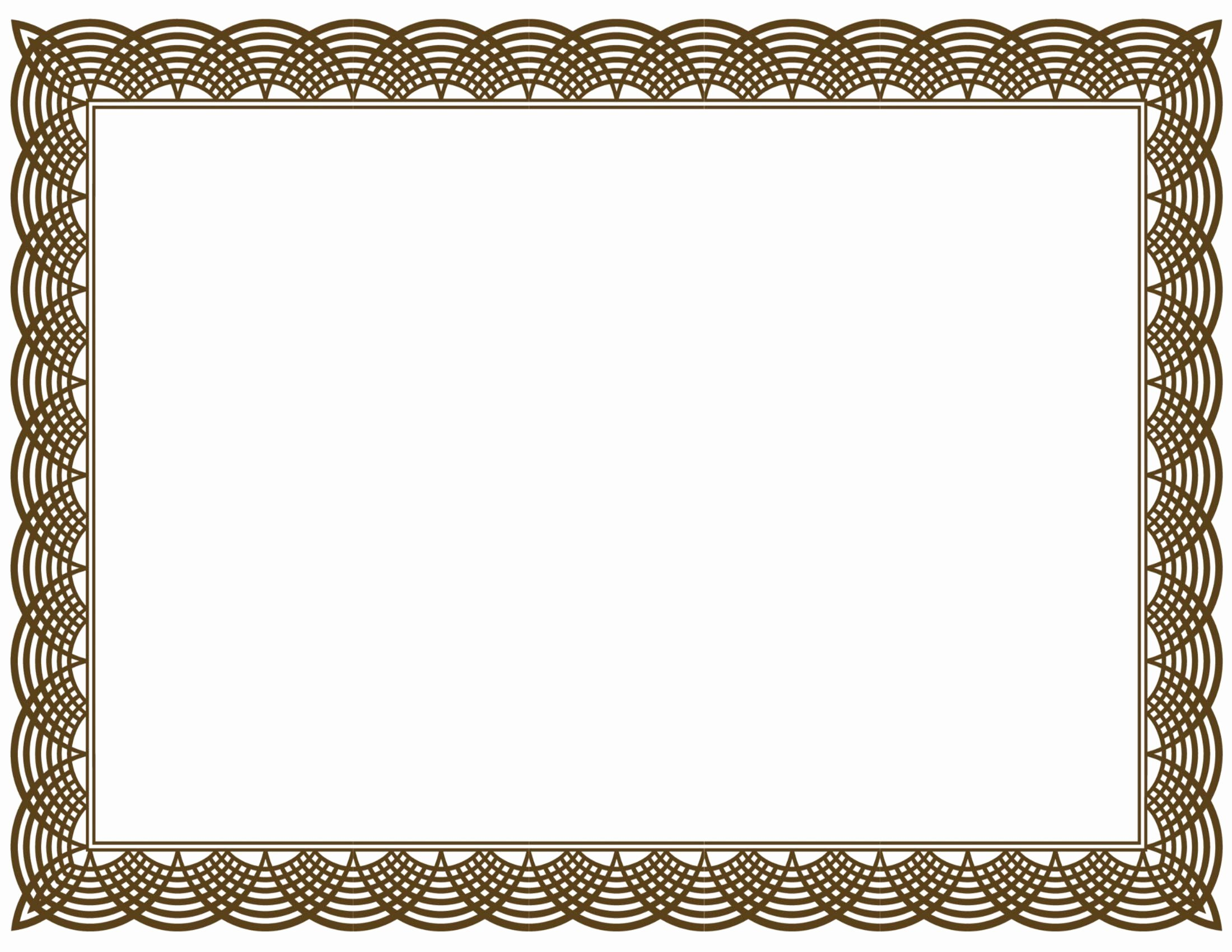 20 Printable Certificate Borders