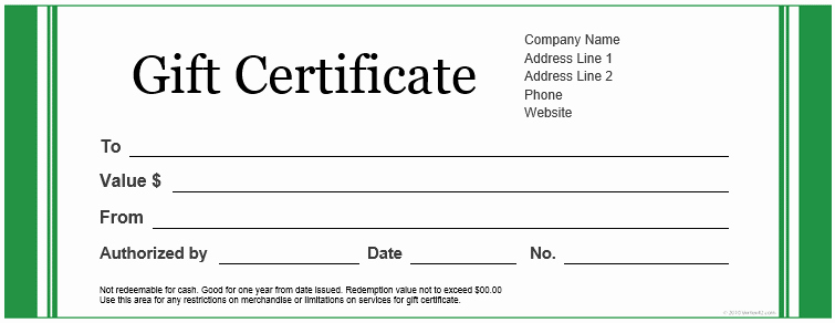 20 Printable Gift Certificates