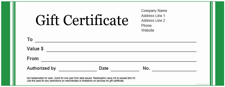 20 Printable Gift Certificates