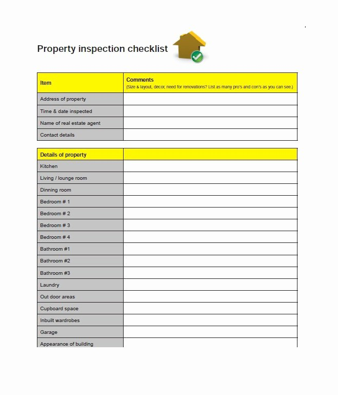 20 Printable Home Inspection Checklists Word Pdf