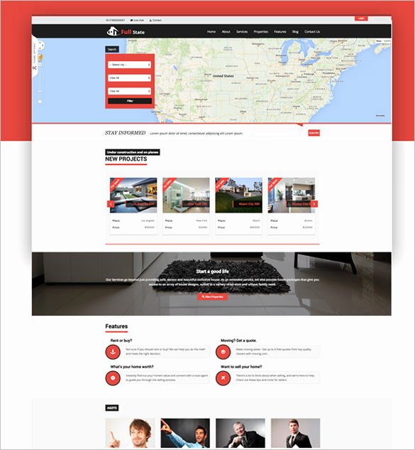 20 Real Estate Bootstrap themes & Templates