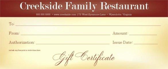 20 Restaurant Gift Certificate Templates – Free Sample