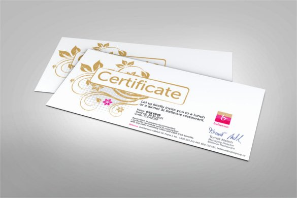 20 Restaurant Gift Certificate Templates – Free Sample