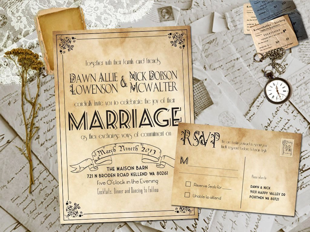 20 Rustic Wedding Invitations Ideas