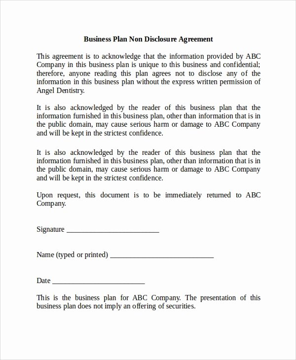 20 Sample Non Disclosure Agreements