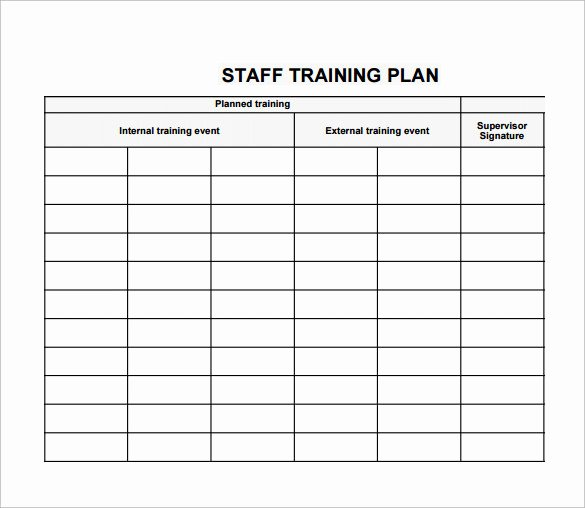 20 Sample Training Plan Templates to Free Download