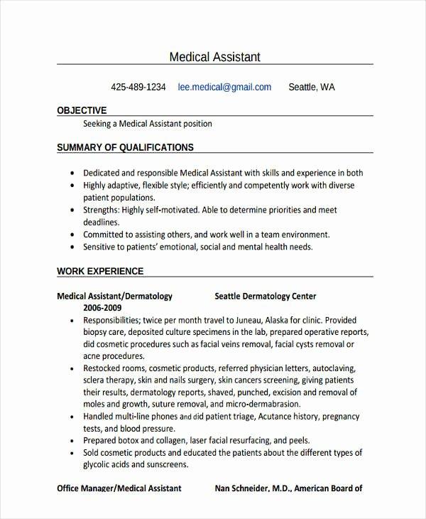 simple work resume template