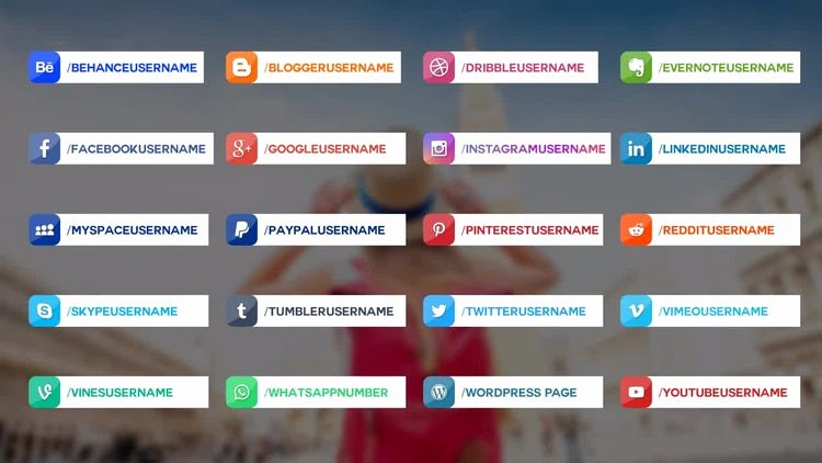 20 social Media Lower Thirds after Effects Templates