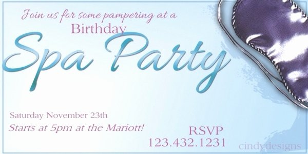 20 Spa Party Invitations Psd Vector Eps Jpg Download