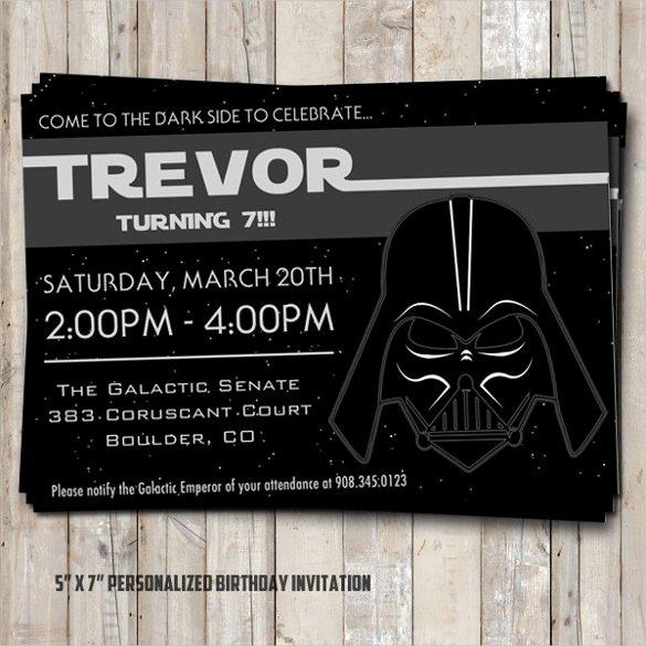 20 Star Wars Birthday Invitation Template – Free Sample
