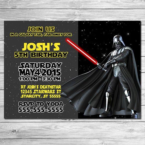 20 Star Wars Birthday Invitation Templates – Free Sample