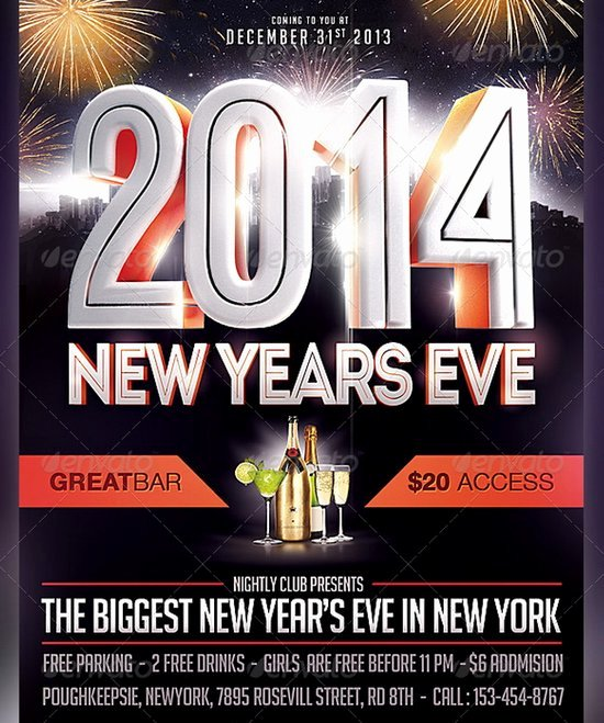 20 Stunning Happy New Year Flyer Print Templates 2014