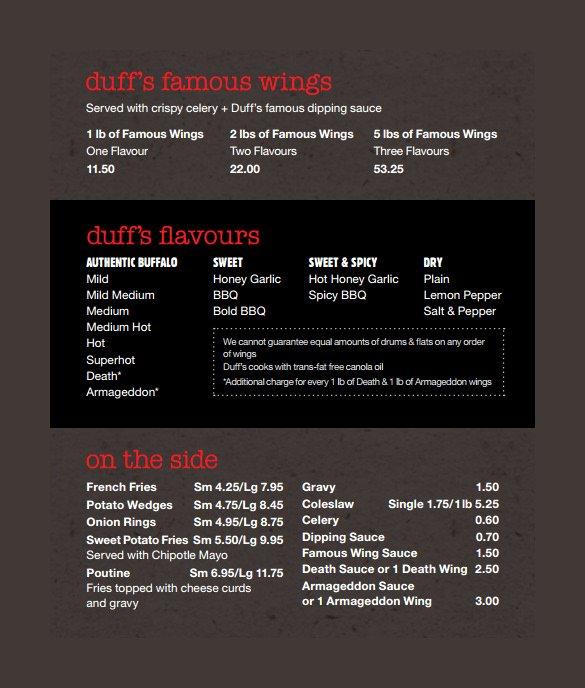 20 Take Out Menu Templates – Free Sample Example format