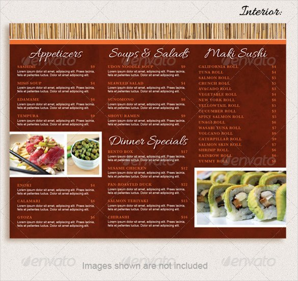 20 Take Out Menu Templates – Free Sample Example format