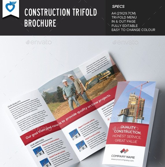 20 Useful Construction Brochure Templates