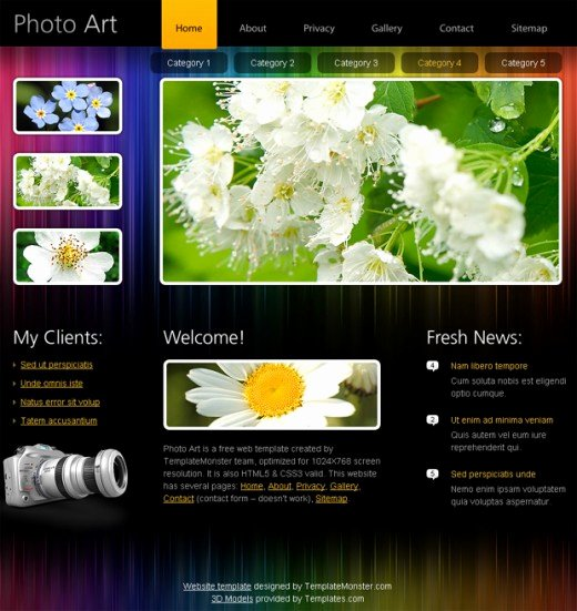 20 Useful HTML5 Web Design Templates to Free Download