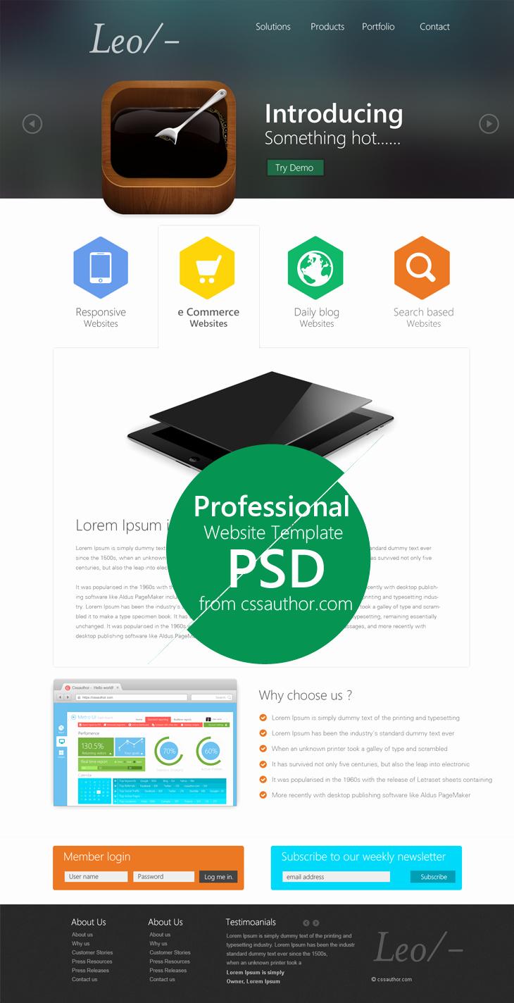20 Web Design Psd Templates Website Design
