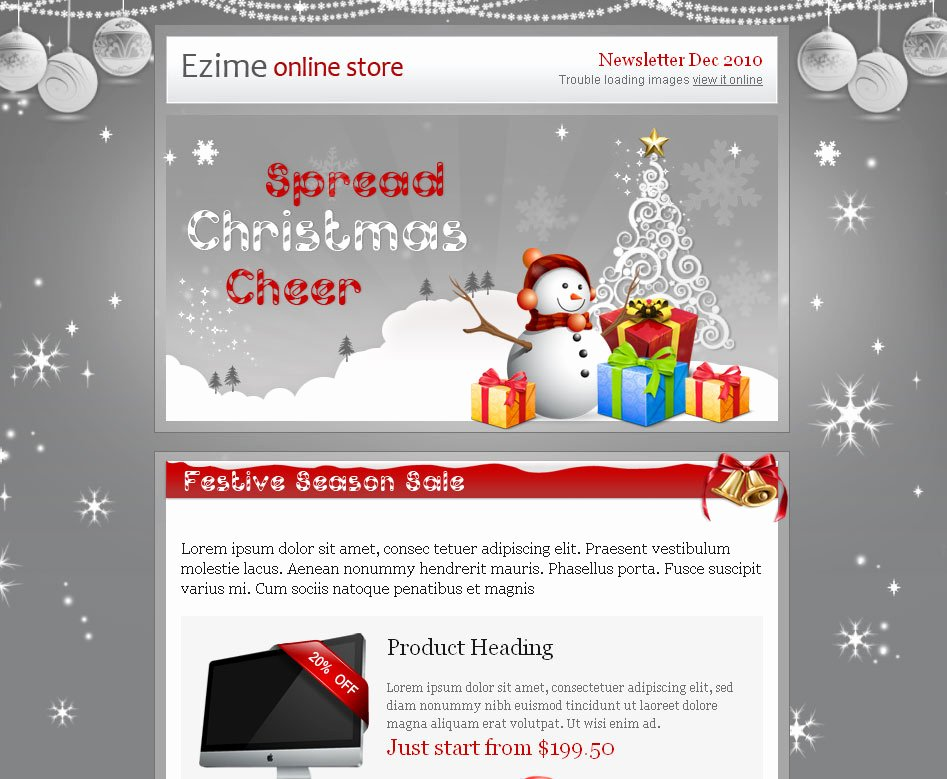 20 Wonderful Christmas & New Year Email Templates