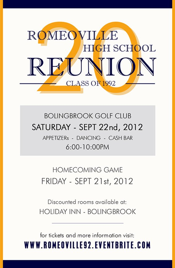 20 Year Reunion Romeoville High School Class Of 92