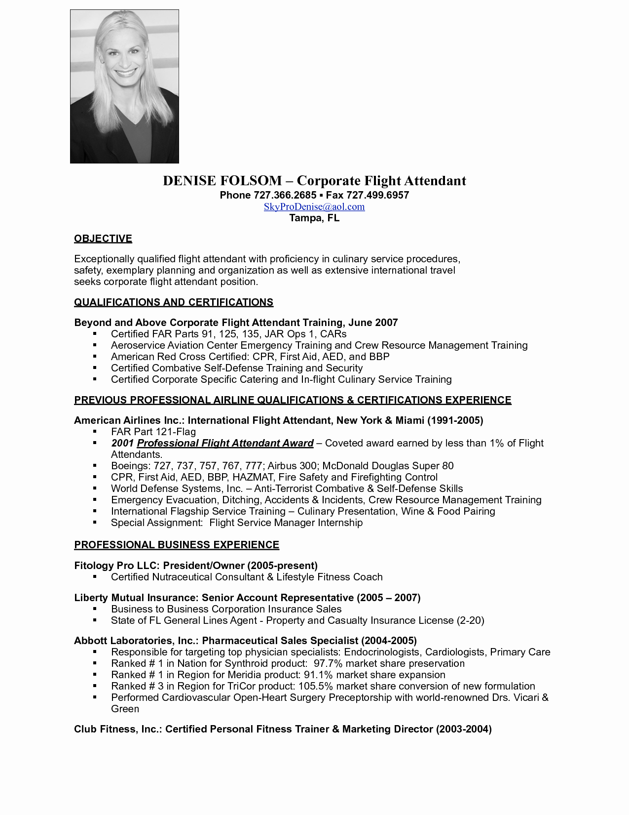 2016 2017 Resume Flight attendant Writing Tips