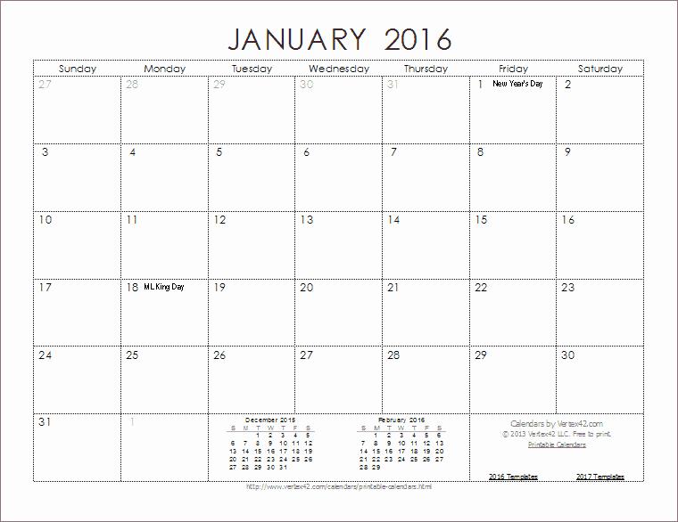 2016 Calendar Templates and