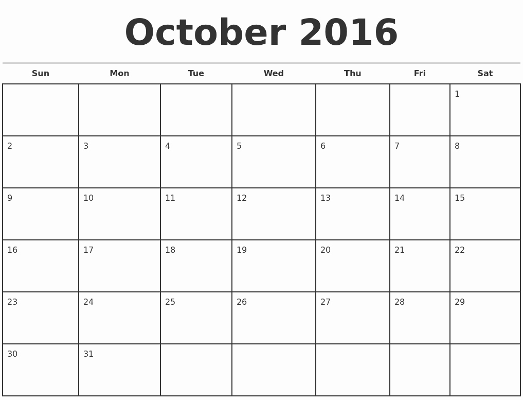 2016 Printable Calendar by Month Bing Images