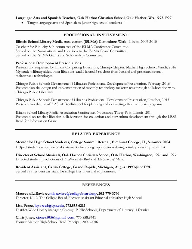 2016 Resume Elizabeth Wright
