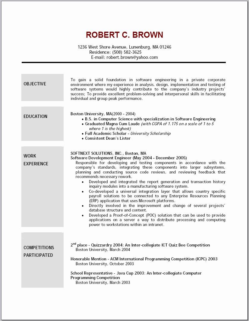 2016 Resume Objective Example Samplebusinessresume
