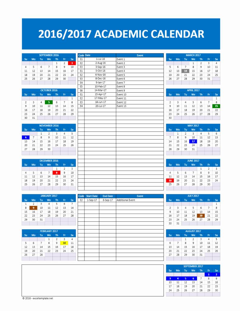 2017 2018 and 2016 2017 School Calendar Templates