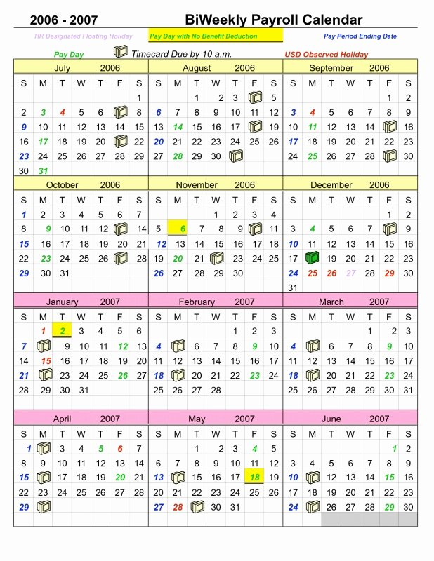 2017 Biweekly Payroll Calendar Calendar Template 2018