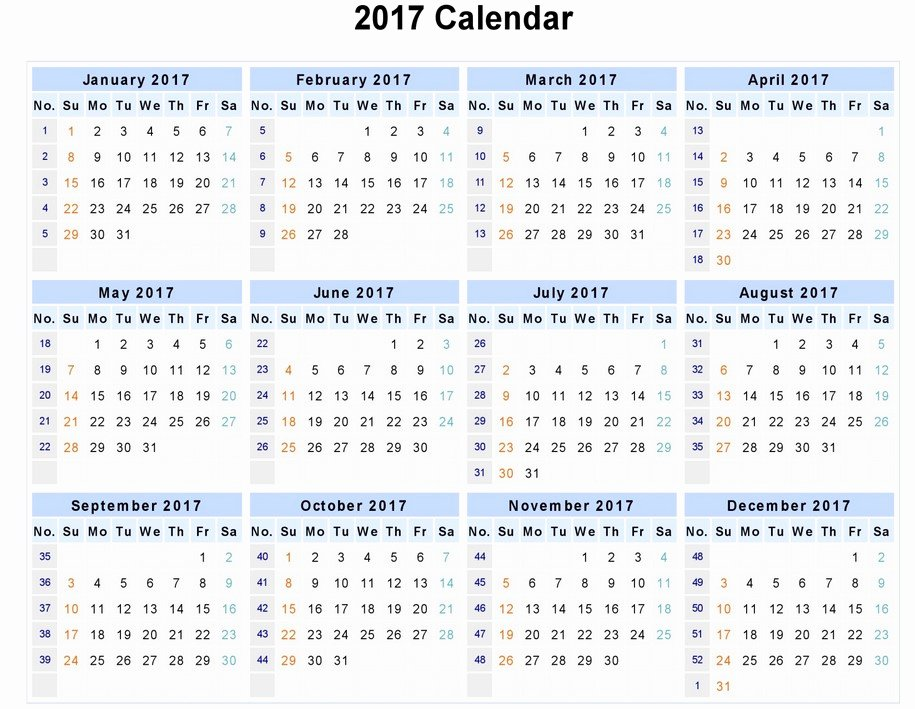 2017 calendar word 1027