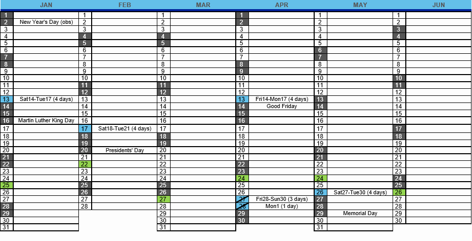 2017 event Calendar Excel Template Microsoft Project