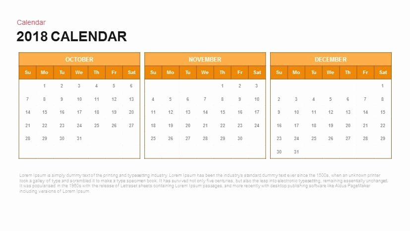 2018 Calendar Powerpoint and Keynote Template Slidebazaar