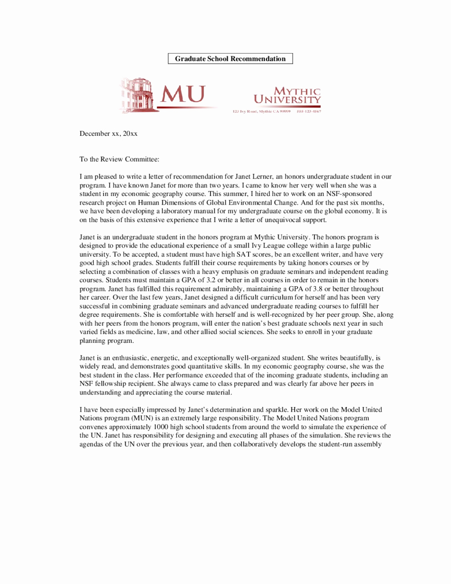 2018 Letter Of Re Mendation Sample Fillable Printable