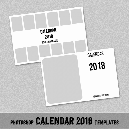 "2018 Monthly Calendar Template 4x6"" Shop or"