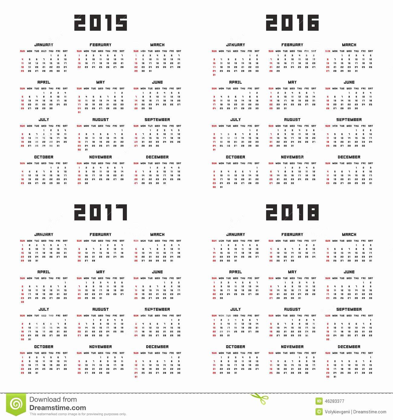2018 Pocket Calendar Printable