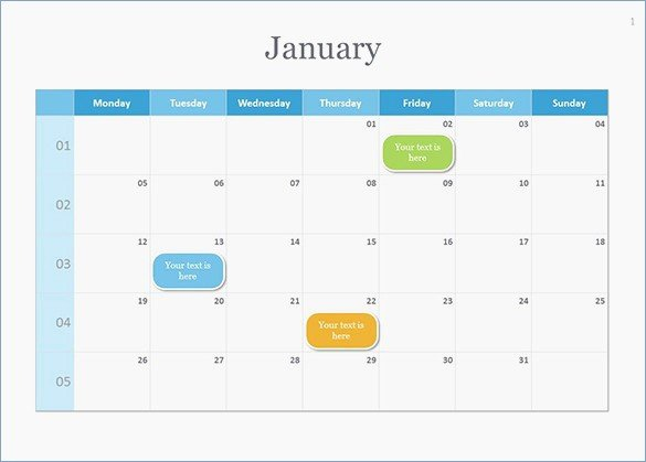 2018 Powerpoint Calendar Template Download