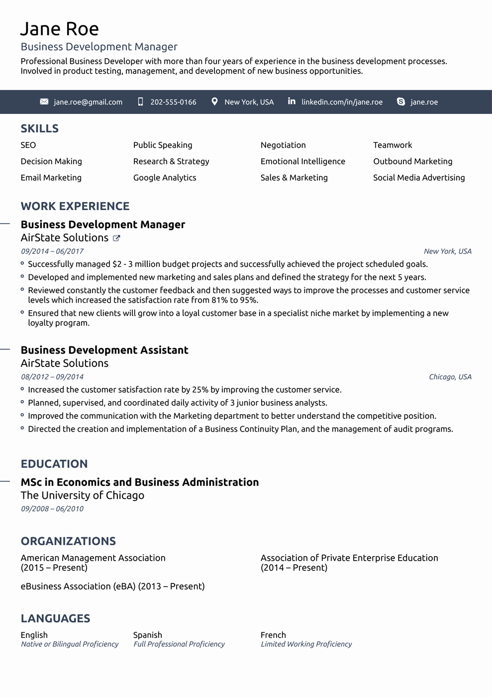 2018 Professional Resume Templates as they Should Be [8 ]