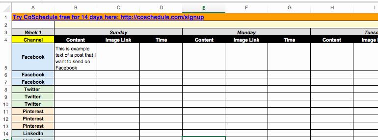 2018 social Media Content Calendar How to Easily Plan