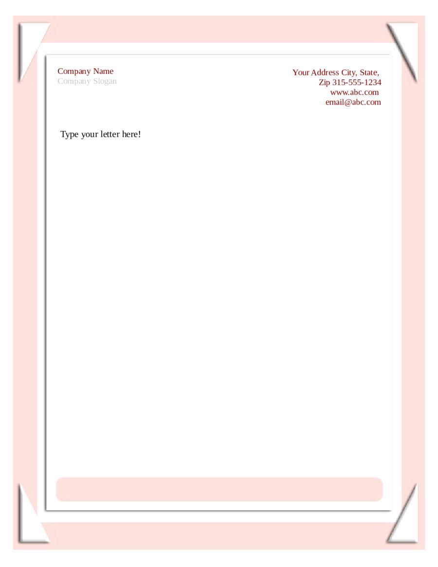 2019 Business Letterhead Templates Fillable Printable